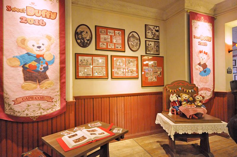 店内の装飾も、多くが「スウィート・ダッフィー」仕様になっている