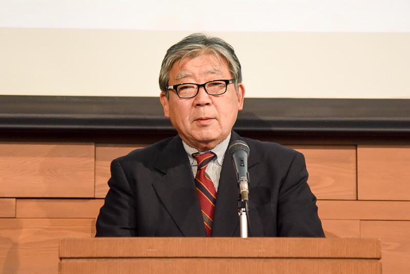 公益社団法人・穀物安定供給支援機構の木村良氏。日本の食文化の根幹である米の魅力を世界に、そして駅弁でご飯の食べ方のバリエーションを楽しんでほしいと述べた