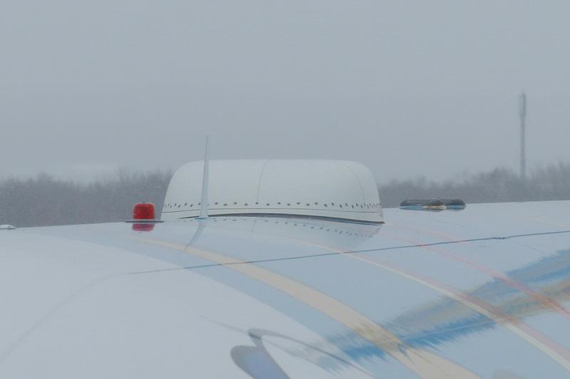 機体上部にANA Wi-Fiサービス用のアンテナを搭載