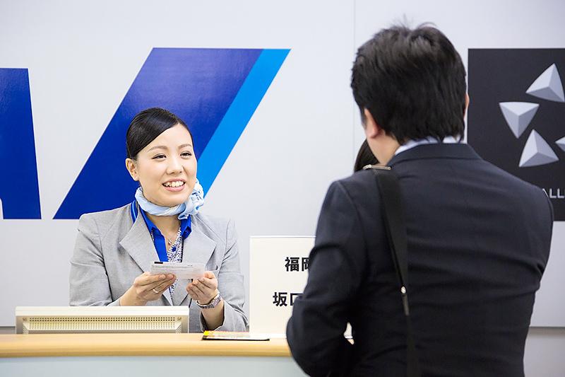 坂口奈津姫さん(福岡空港)