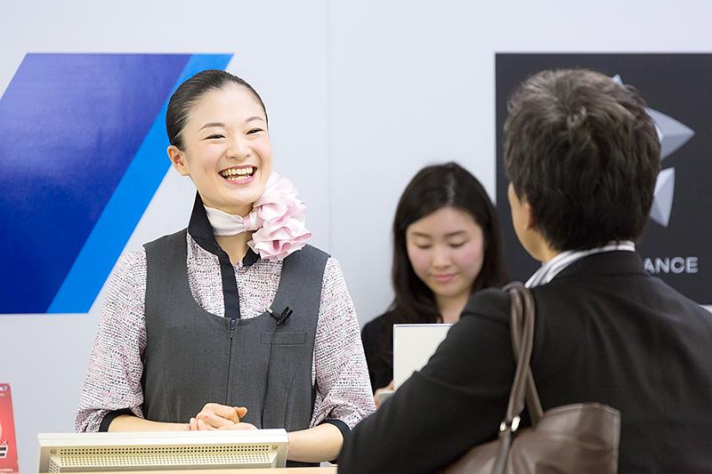 長田恵未さん(羽田空港)