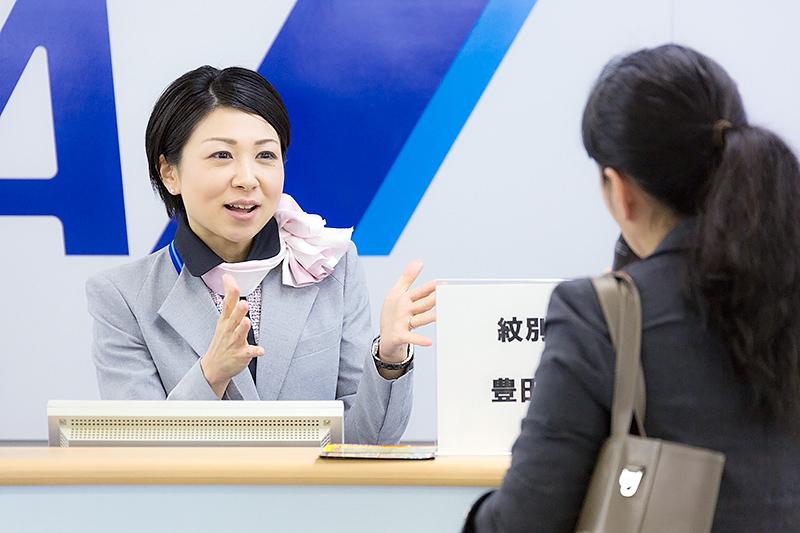豊田由依さん(紋別空港)