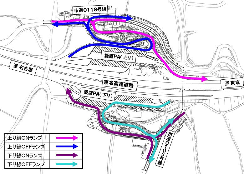 愛鷹スマートICの略図とイメージ