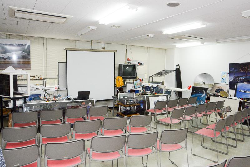 「航空教室」が行なわれる部屋