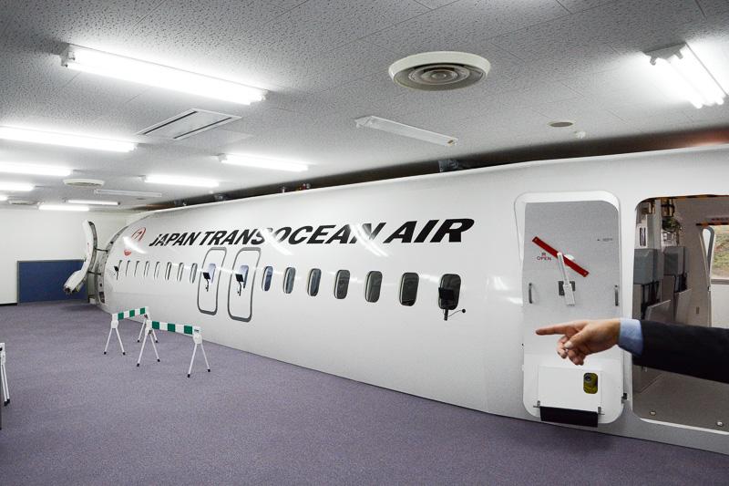 JTAのボーイング 737-800型機モックアップ施設