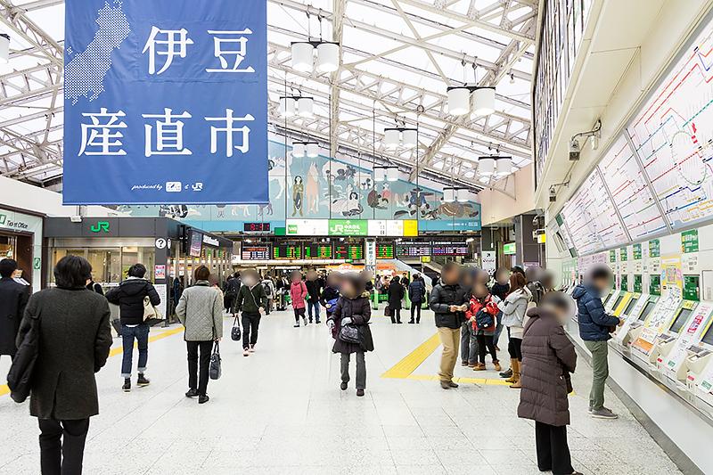 集合場所となった上野駅