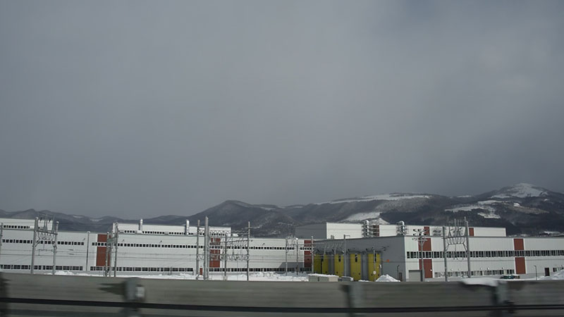 函館総合車両基地の付近
