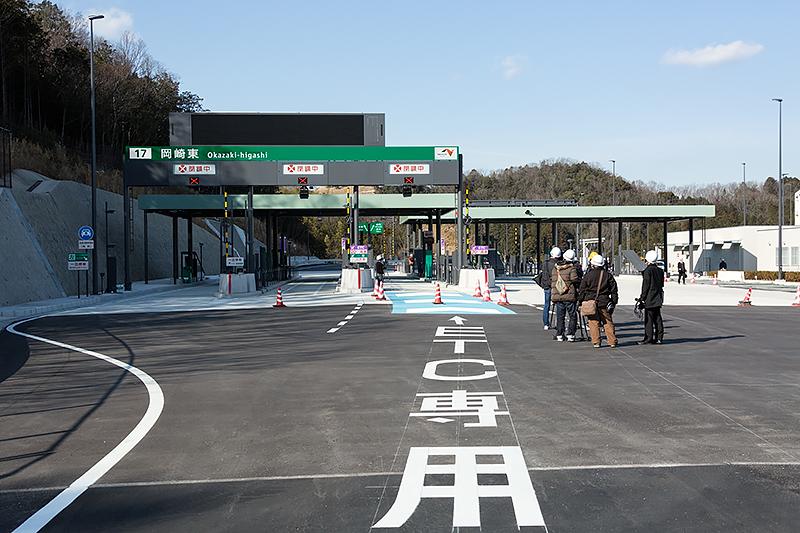 岡崎東IC。入口側