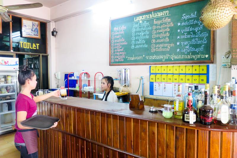 ラオスでは気軽に本格的なコーヒーを楽しめる