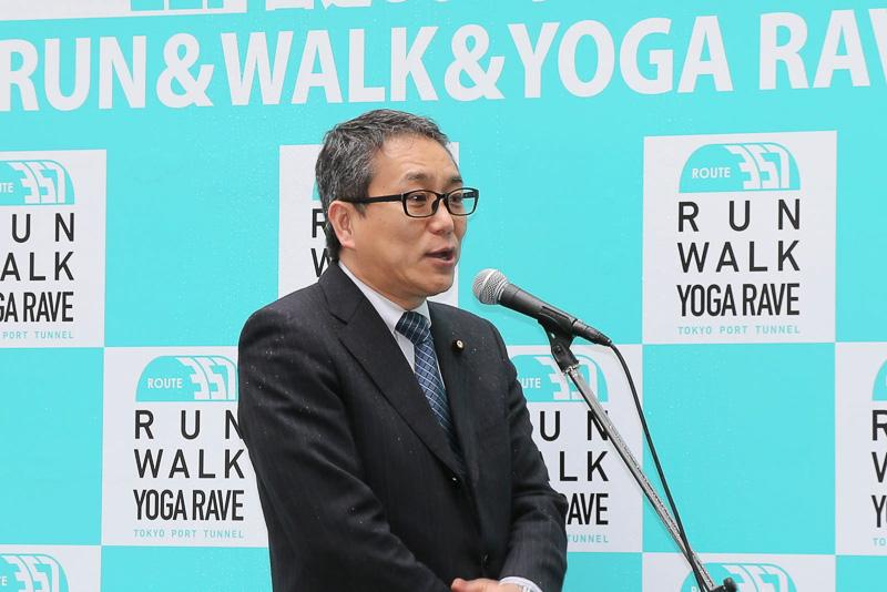 会場で挨拶した国土交通大臣政務官 江島潔氏