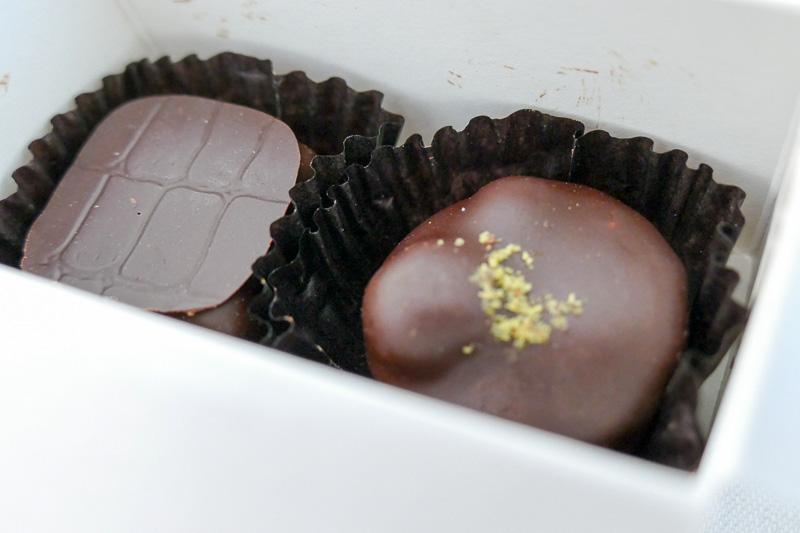 ケーキだけでなくチョコレートのサービスも