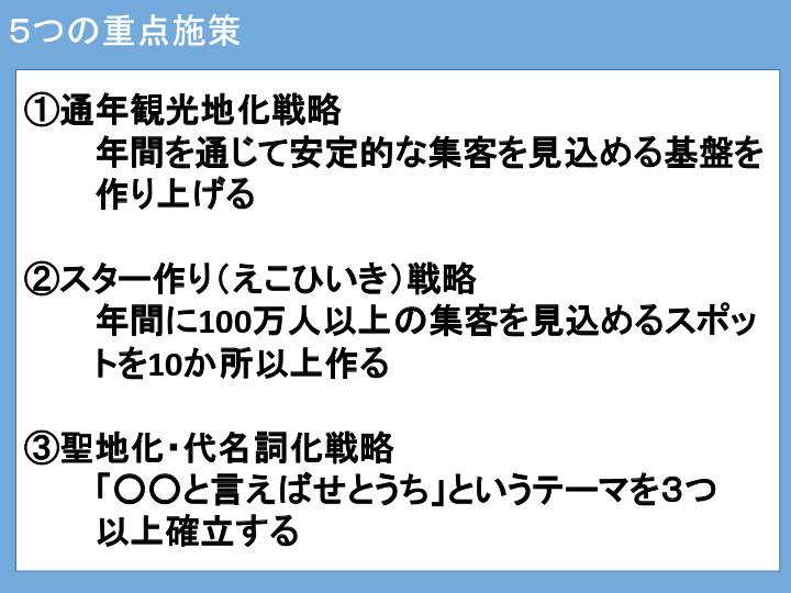 5つの重点施策