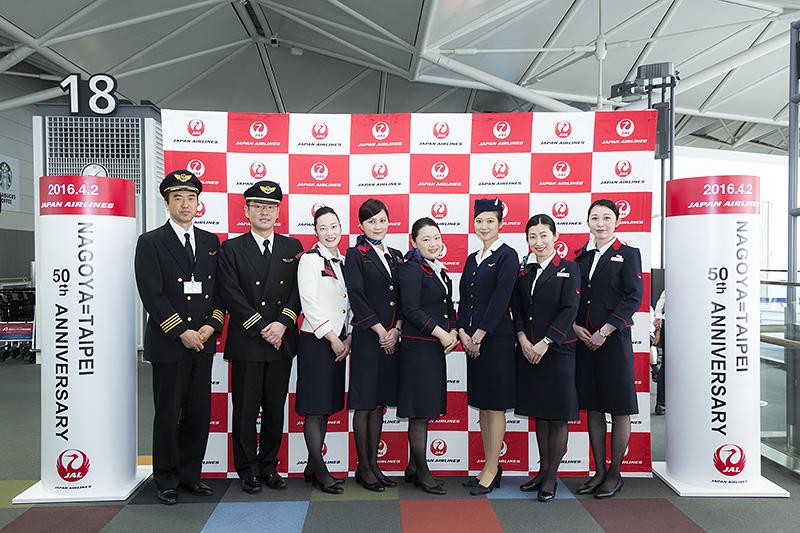 当日のクルーと当時の制服を着たCAによるフォトセッション