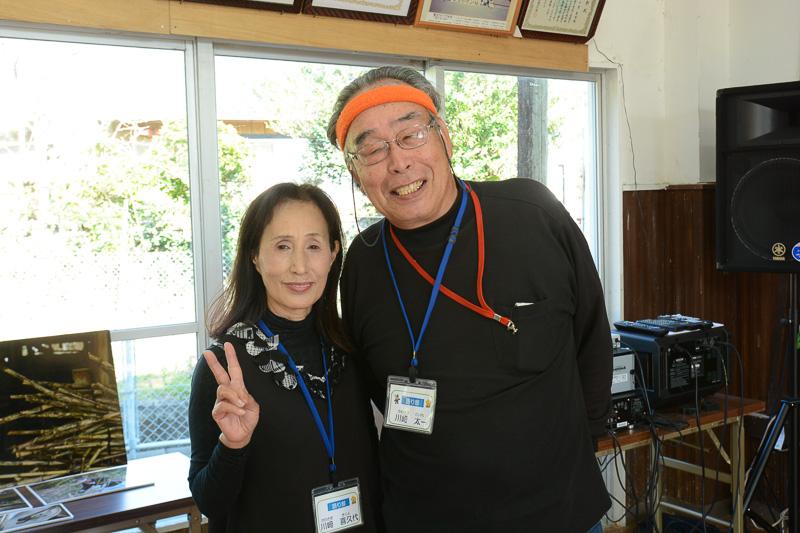 語り部の川崎太一さん、喜久代さん夫妻