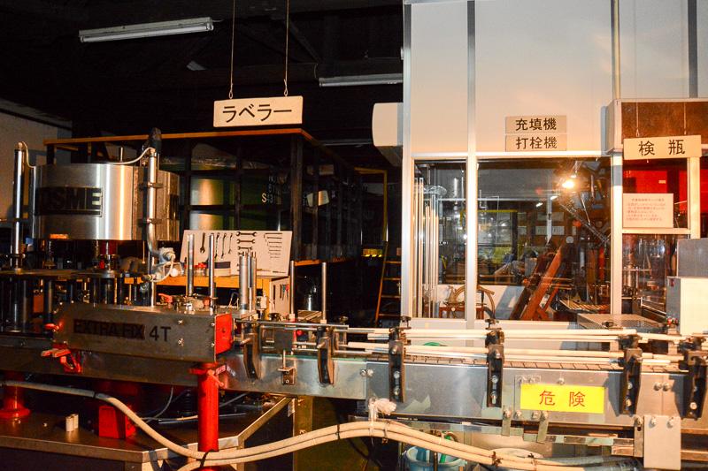 お酒の製造工程からは少し離れるが、瓶詰めやラベリングなどを行なう場所