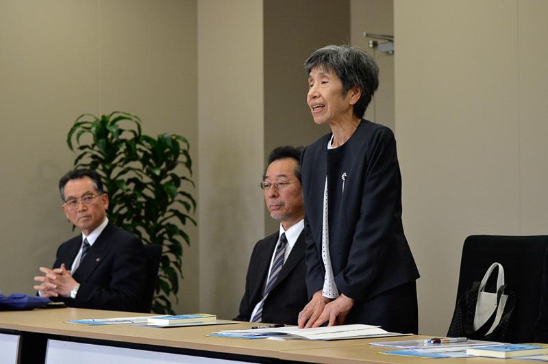 福岡女学院大学現代文化学科学科長である末澤明子氏より、協定締結に至る経緯の説明があった