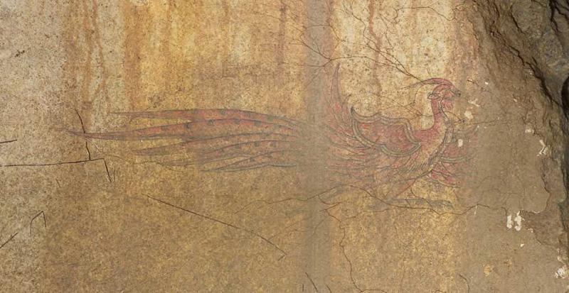 キトラ古墳壁画(朱雀)