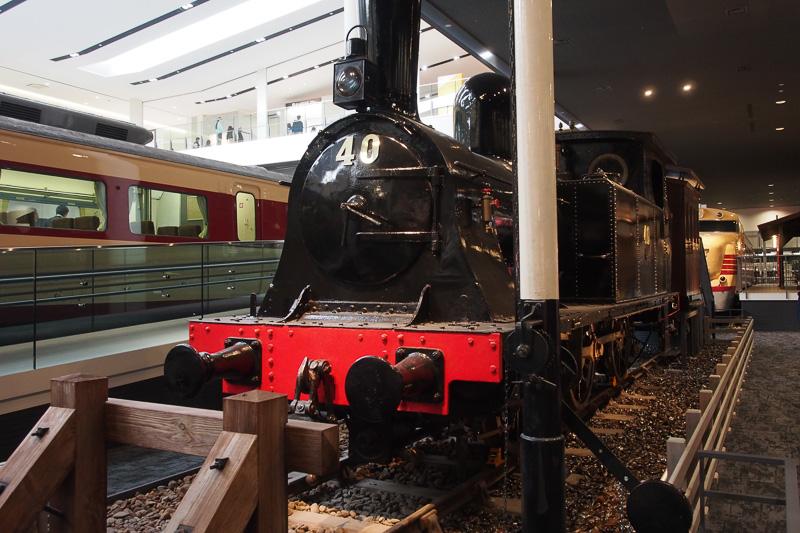 関西圏の勾配区間で活躍した1800形蒸気機関車。1881年イギリス製