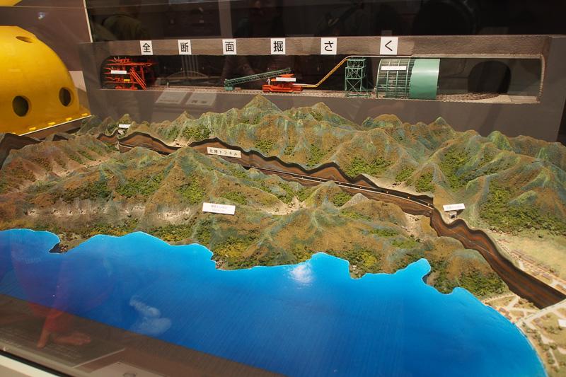 北陸トンネルの断面図