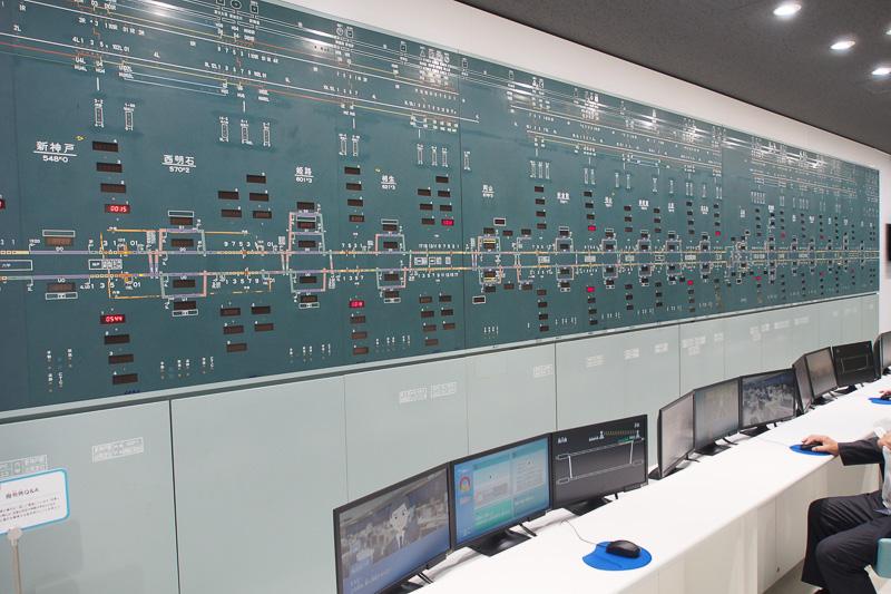 実際に東京指令所で使われた山陽新幹線のCTC表示板