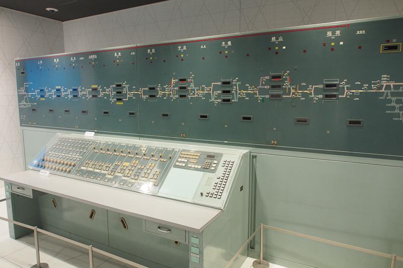 JR奈良線のCTC制御盤