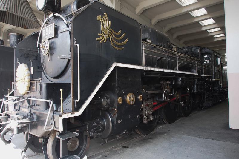 C58形1号機。菊の御紋と特別な装飾が施されている