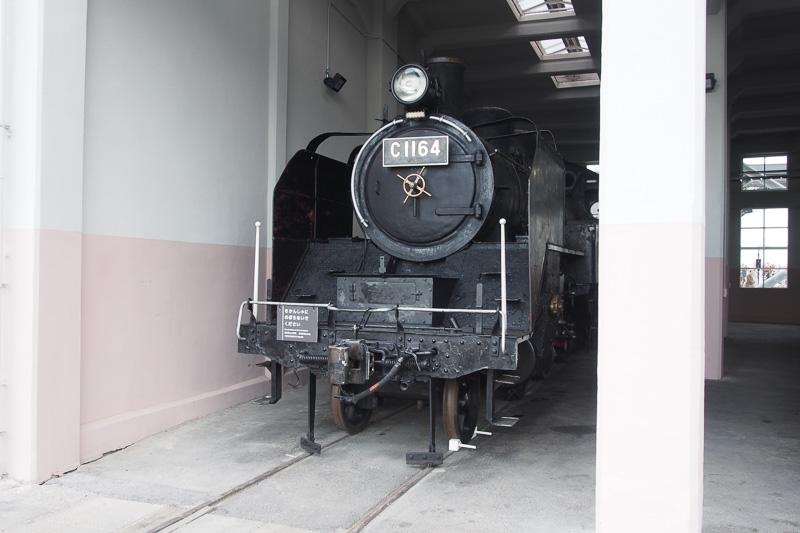 C11形164号機。動態保存機としては多い形式で、大井川鐵道のトーマスになっている個体も同形