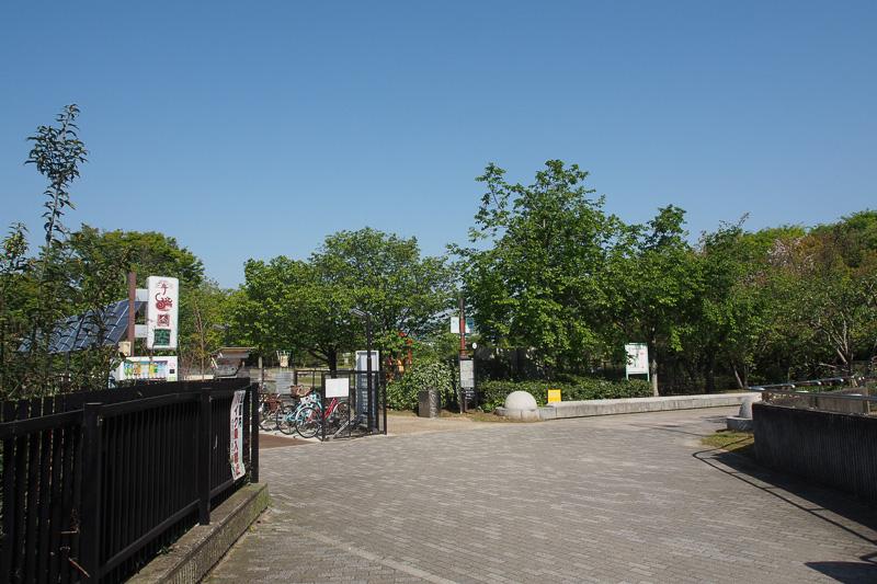 梅小路公園の入り口。実はすぐ左までSLスチーム号が走ってくる
