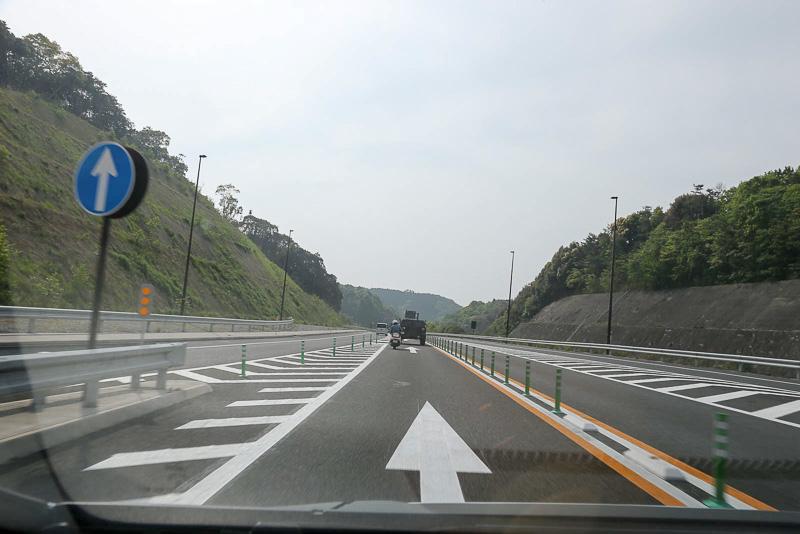 椎田南ICから北九州市方面への合流ポイント