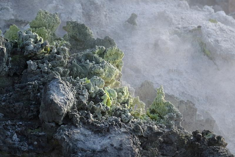 一目でここの温泉が硫黄泉であることが分かります