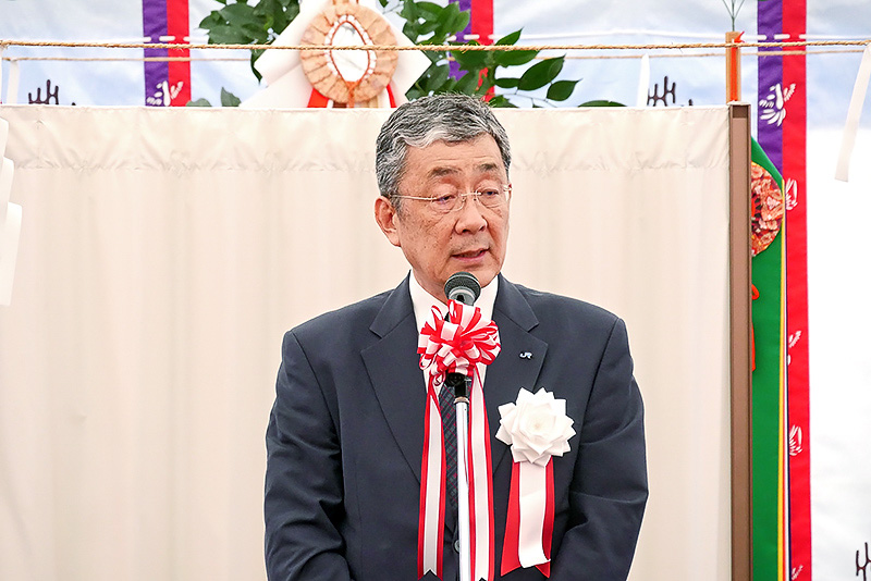 西日本旅客鉄道 代表取締役副社長 兼 鉄道本部長 山本章義氏