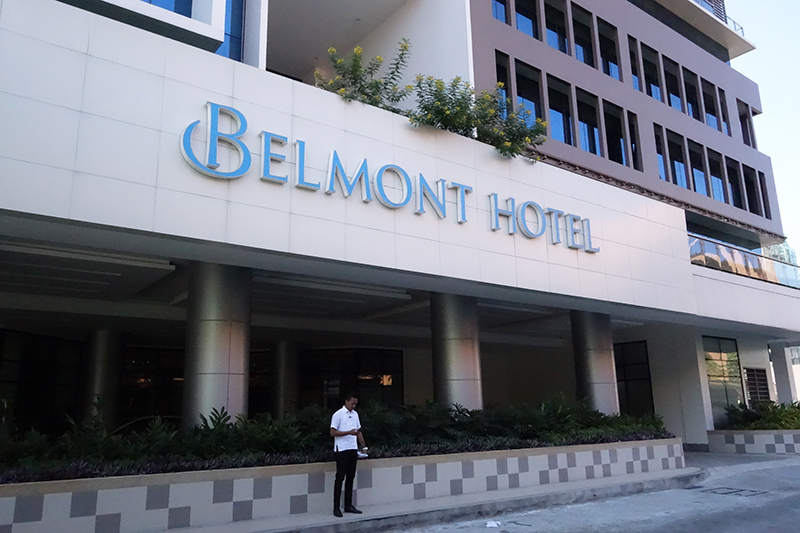 今回宿泊したベルモントホテル。空港に近いので深夜到着のジェットスター便にはありがたい