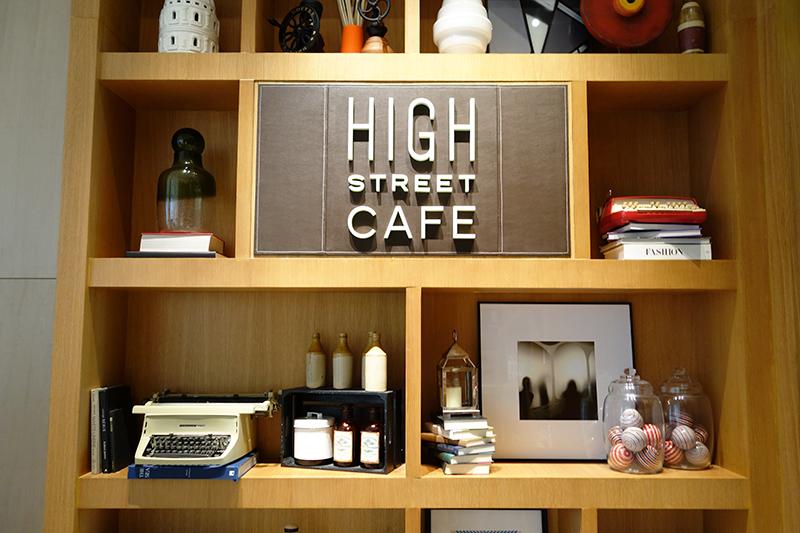 """BGCのメイン通り""""ハイストリート""""にちなんだネーミングのカフェ"""