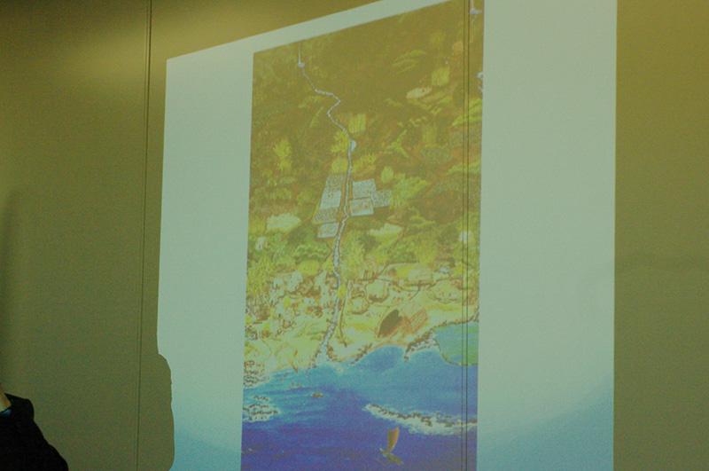 これからの目指すべき社会・共同体の姿として紹介されたハワイの「アフプアア」と、アフプアアと同様の概念を持つ日本の「里山」