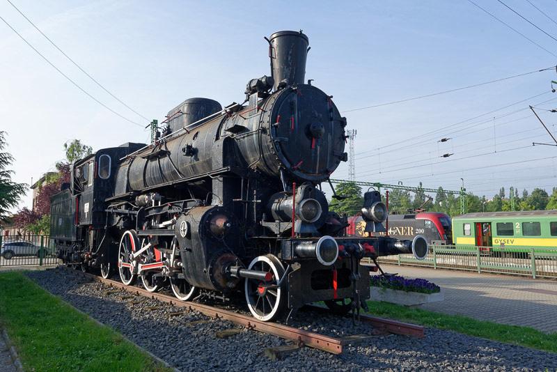 ショプロン駅にあった蒸気機関車