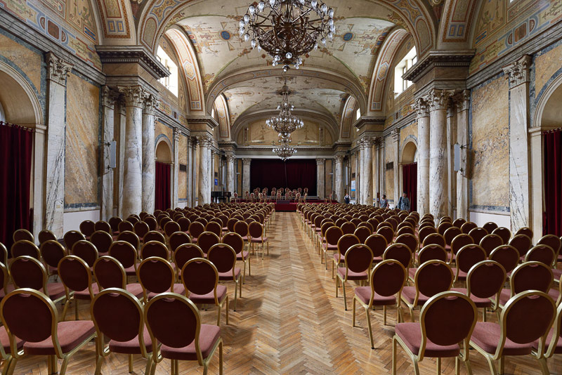コンサートなどが開かれる「カジノ」と呼ばれるホール
