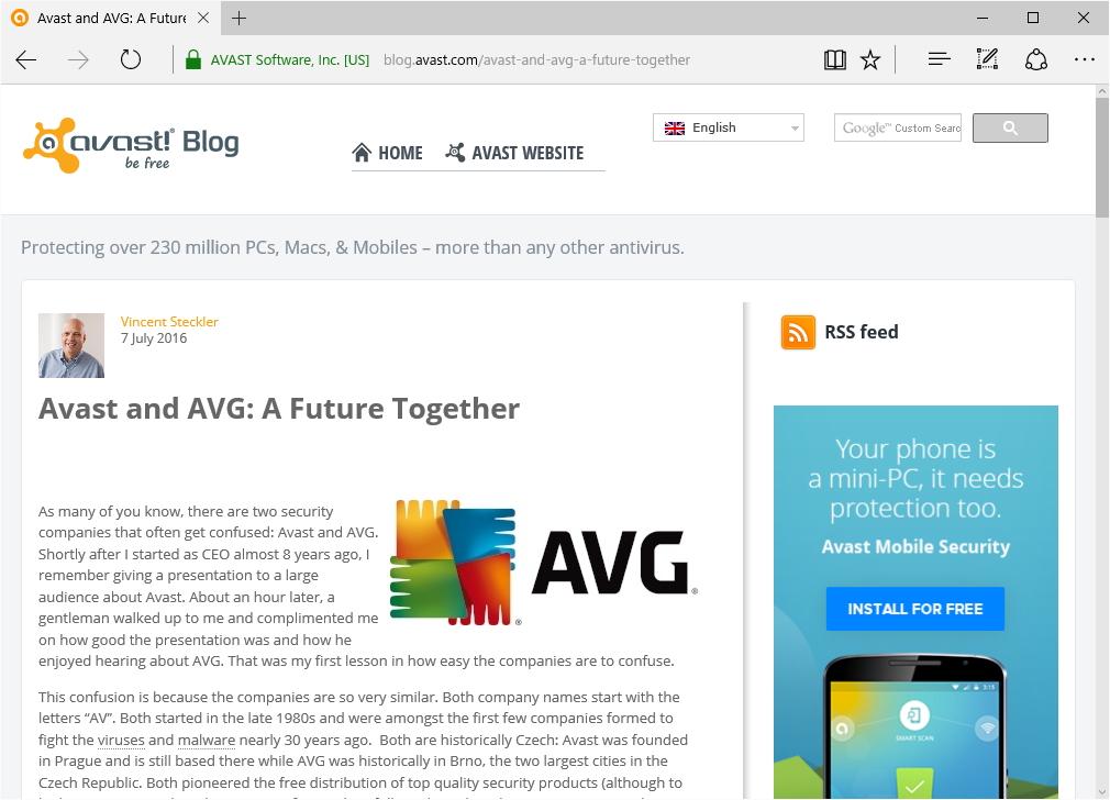 Avast社のリリース
