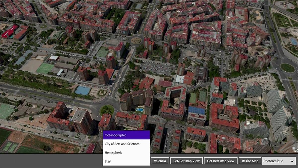 「Build 2013」のキーノードでアピールした都市の3D表示機能。後にWindows 8.xやWindows 10 Mobileの「マップ」に搭載された