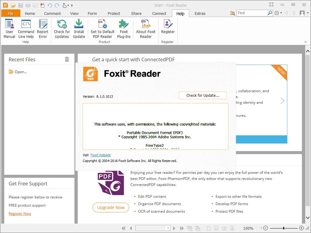 「Foxit Reader」v8.1.0.1013