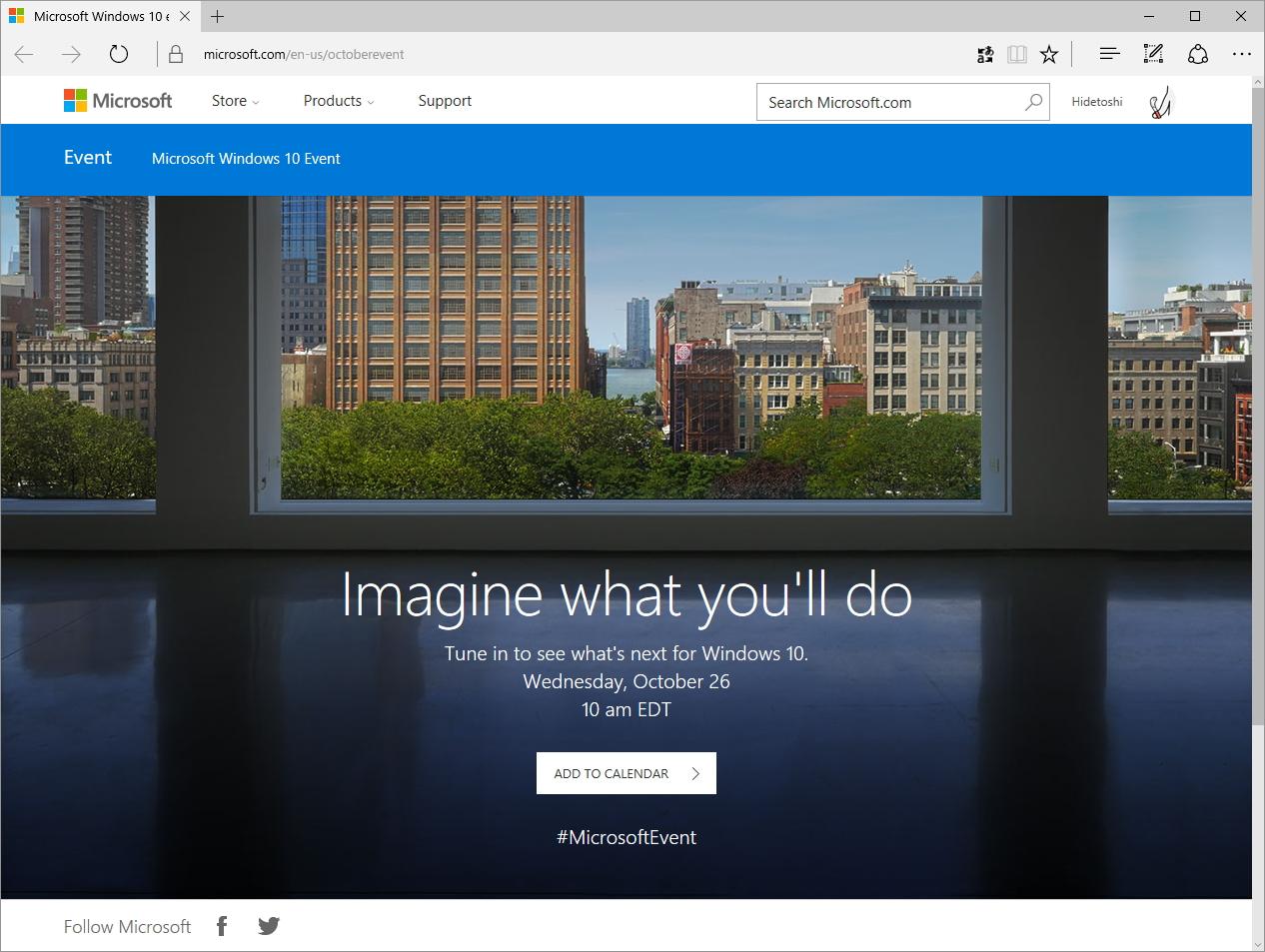 """Microsoft Windows 10 Event"""
