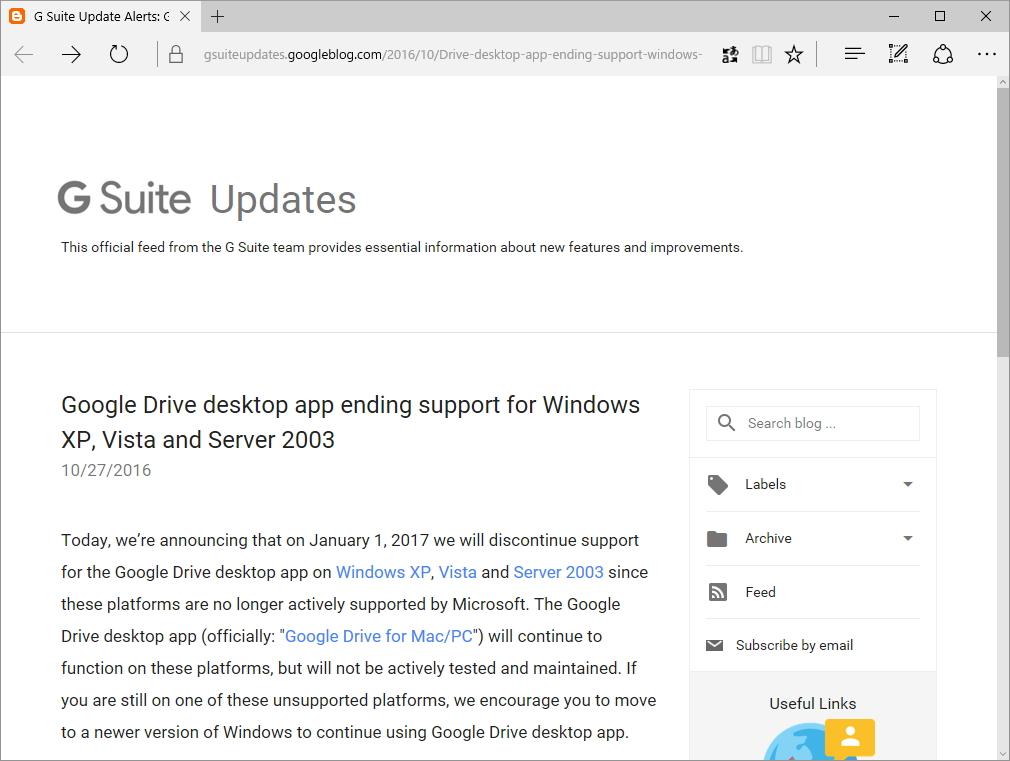 """公式ブログ""""G Suite Update Alerts"""""""