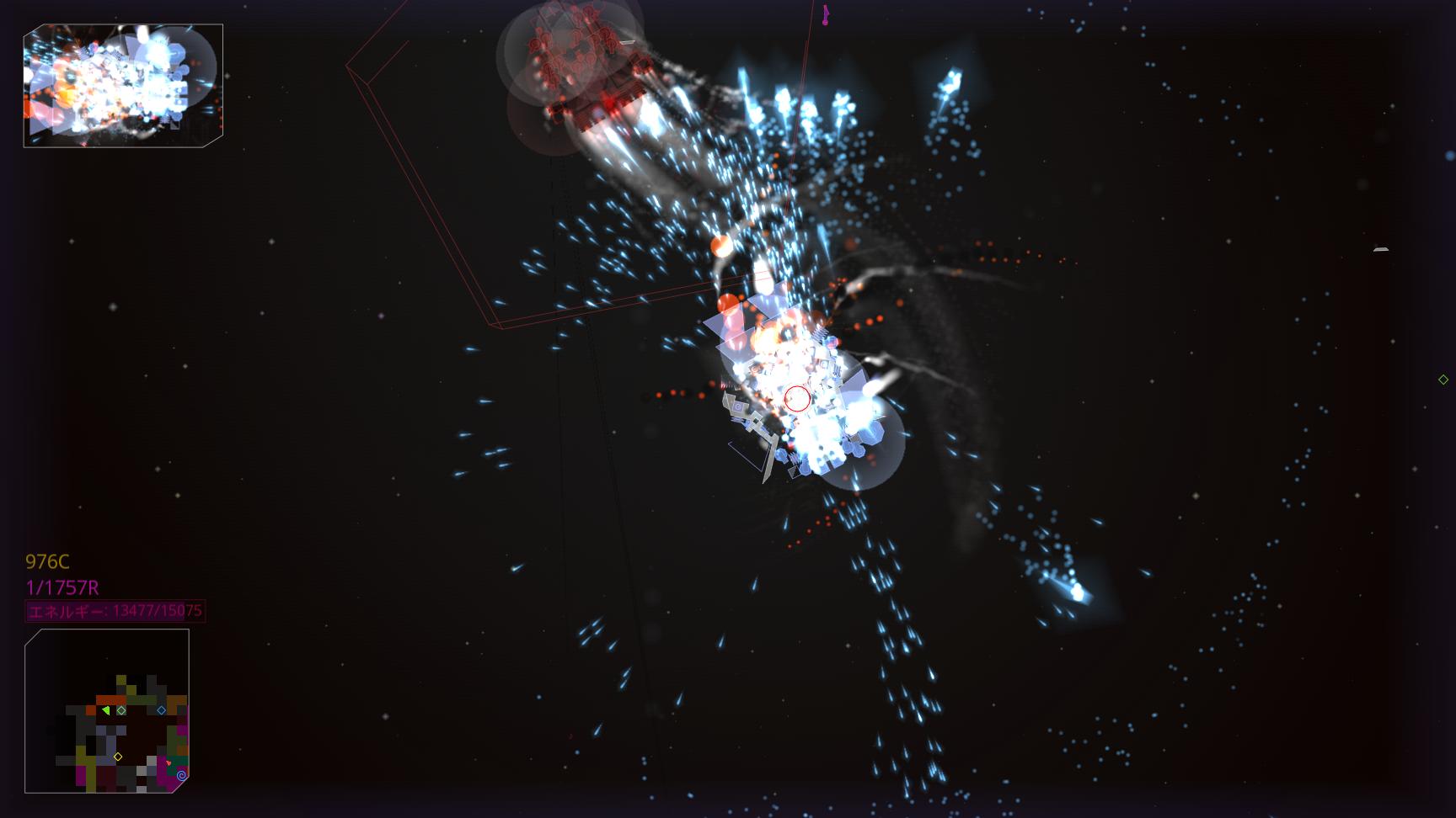 マウスの左ボタンを押し続けるだけで、全砲門による一斉射撃が開始される。その様子は壮観だ