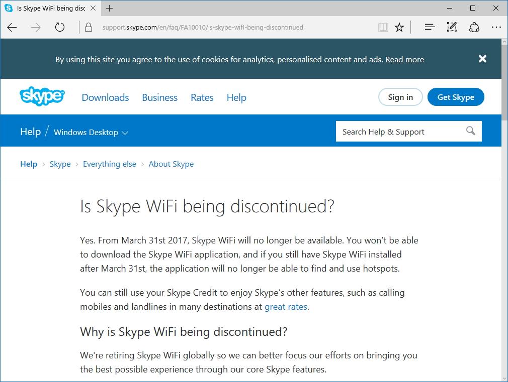 """""""Skype""""のサポートページ"""