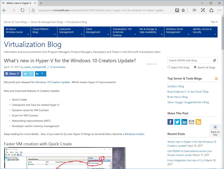 """公式ブログ""""Virtualization Blog"""""""