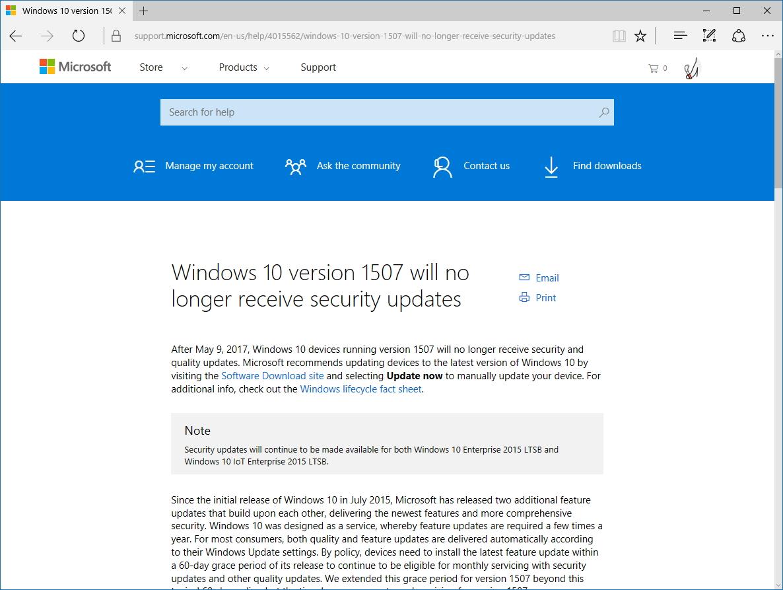 Microsoftのサポートセンター