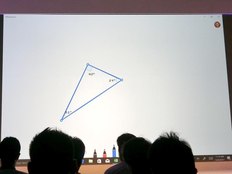清書された図形の角に直角記号を手書きするとその角が直角に