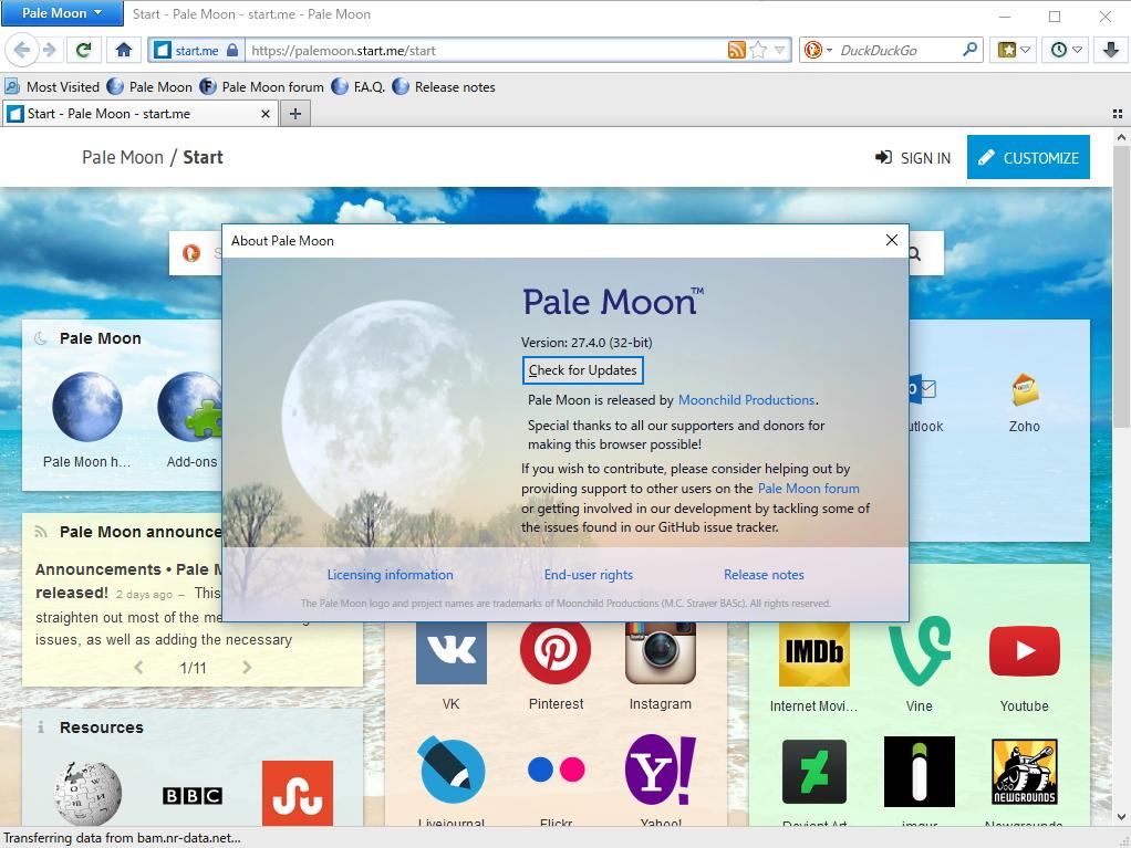 「Pale Moon」v27.4.0