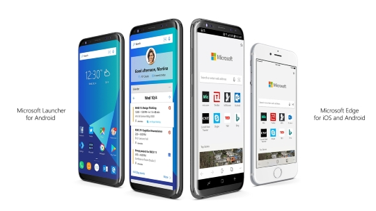 Microsoft、iOS/Android向けの「Edge」とAndroid向けホームアプリ「Launcher」を発表 Microsoft、iOS/Android向けの「Microsoft Edge」とAndroid向けのホームアプリ「Microsoft Launcher」を発表(同社リリースより引用、以下同)