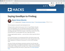 "Web開発者向けの定番拡張機能「Firebug」が開発終了 ""Mozilla Hacks""のブログ記事"