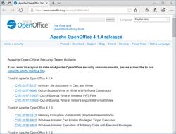 先週公開の「Apache OpenOffice」v4.1.4では4件の脆弱性が修正 「Apache OpenOffice」のセキュリティ情報ページ